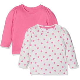 Mothercare - Set Bluze Grey Hearts, 2 buc