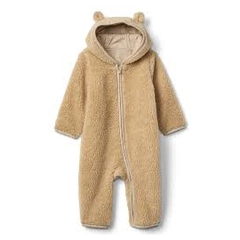 GAP - Salopeta Sherpa Bear Zip One-piece, Brown