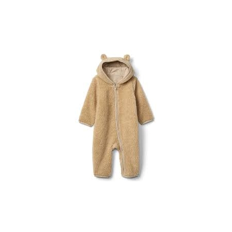 GAP - Salopeta Cozy Bear Zip One-piece, Maro