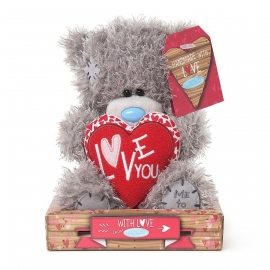 Me to You - Ursulet Tatty Teddy Heart - Love You, Medium, 7""