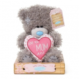 Me to You - Ursulet Tatty Teddy Heart - Love You Mum, Medium, 7""