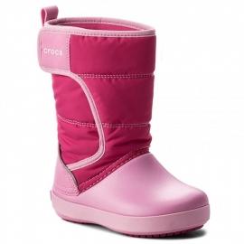 crocs - Cizme de zapada, Lodgepoint Candy Pink