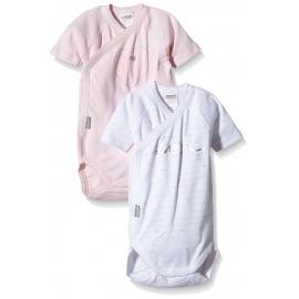 Absorba - Set 2 body cu maneca scurta si deschidere in fata, Girls Love Pink