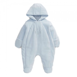 Mamas&Papas - Salopeta Velour Ess Pramsuit, Light Blue