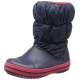 crocs - Cizme de zapada, Winter Puff Boot, Red/Navy