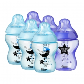 Tommee Tippee - Set Biberoane 6X260ml Decorate DuoBlue