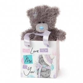 """Me to You - Ursulet Tatty Teddy si Punga cadou With Love, Small, 5"""""""