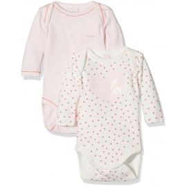 Esprit - Set Body cu maneca lunga, Love Pastel Pink, 2 buc