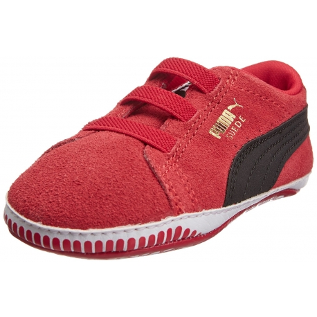 Puma - Suede Crib Sneakers, Red
