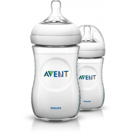 Philips AVENT - Set Biberoane Natural, 2x260 ml, 1 luni+