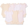 Mothercare - Set Body cu maneca scurta MyFirst, 7 buc, Pink