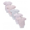 Mothercare - Hearts Bodysuits (set 5 buc)