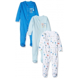 Mothercare - Pijamale body all-in-one Mummy Daddy, 3 buc, Bleu