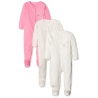 Mothercare - Pijamale body all-in-one Mummy Daddy, 3 buc, Pink