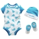 Converse - All Star Infant Set 3 piese, 0-6 luni, Blue Sneakers