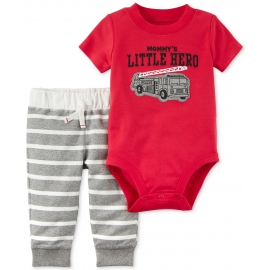 Carter's - Set 2 piese Body si Pantaloni, Little Hero