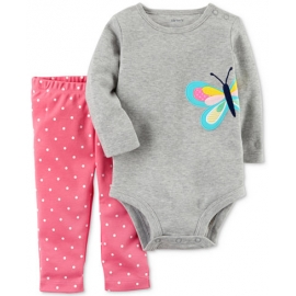 Carter's - Set 2 piese Body si Pantaloni, Butterfly Dots