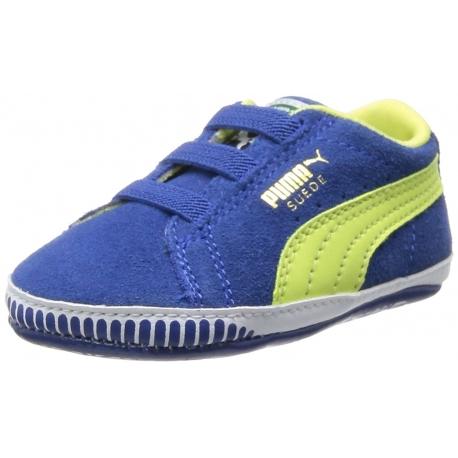 Puma - Suede Crib Sneakers, Monaco Blue