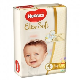 Huggies - Scutece Elite Soft 4, 8-14 kg, 66 buc