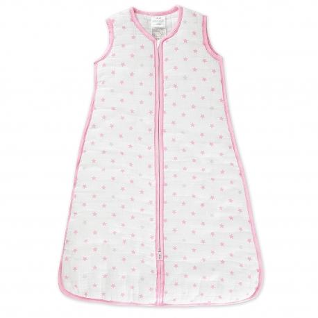 Aden + Anais - Sac de dormit Darling Pink Stars, 2.5 TOG