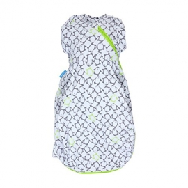 Gro - GroSnug Sac de infasat, Penguin Pop - Green, Cosy 2 TOG
