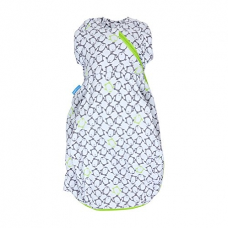 Gro - GroSnug Sac de infasat, Penguin Pop - Green, Cosy 2.5 TOG