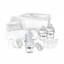 Tommee Tippee - Set pentru alaptare, pompa de san manuala si accesorii