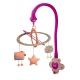 Carusel muzical cu lumini Baby moov Starlight Hibiscus