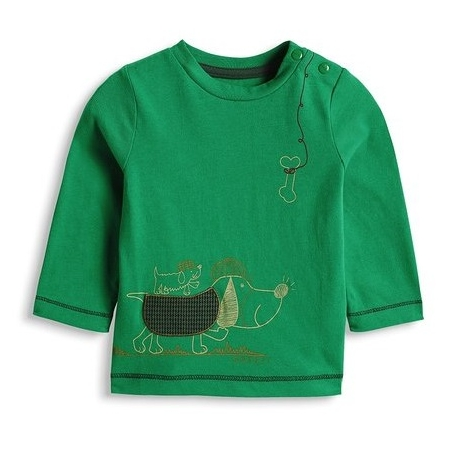 Esprit - Bluza baieti cu maneca lunga Roulette Green