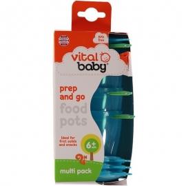 Vital Baby - 4 recipiente de stocare 6 luni+