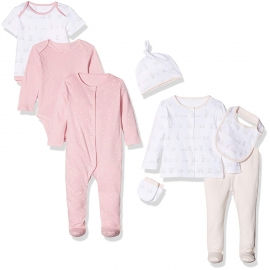 Mothercare - Set cadou 8 piese, Pink Hearts and Rabbits