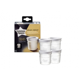 Tommee Tippee - Recipiente Stocare Lapte Matern, 4 Buc