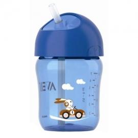Philips Avent - Cana cu pai Twist Lid 12 luni+, 260 ml, Albastru