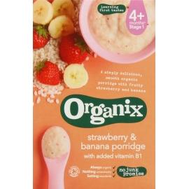 Organix - Cereale cu Orez integral, Porumb, Banane si Capsuni 4+ luni (120g)