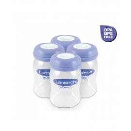 Lansinoh - Recipient de stocare lapte matern, Biberon fara tetina 4 buc