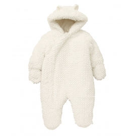 Resigilat Mothercare - Combinezon Fluffy Snowsuit, White