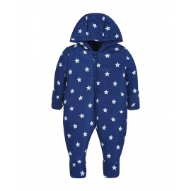 Mothercare - Combinezon Star Snowsuit, Bleumarin