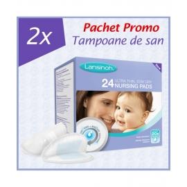 Lansinoh - PROMO Tampoane pentru san, 2 X 24 buc