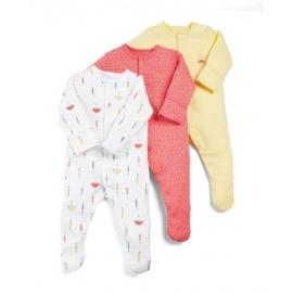 Mamas&Papas - Set Pijamale Body All-in-one Umbrella, 3 buc