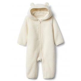 GAP - Salopeta Sherpa Bear Zip One-piece, Ivory