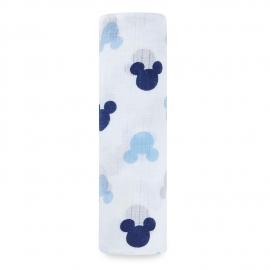 Aden+Anais - Muselina pentru infasat Disney, 1 buc, 107x107 cm, Mickey Mouse