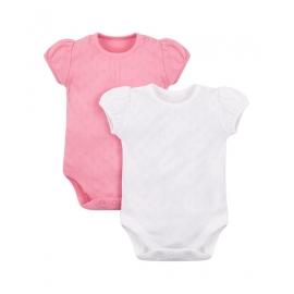 Mothercare - Set Body cu maneca scurta Pointelle, 2 buc
