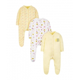 Mothercare - Pijamale body all-in-one Little Bee, 3 buc