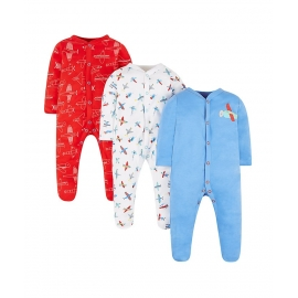 Mothercare - Pijamale body all-in-one Planes, 3 buc