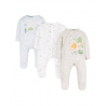 Mothercare - Pijamale body all-in-one Little Explorer, 3 buc