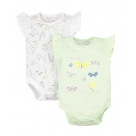 Mothercare - Set Body cu maneca scurta Garden Butterfly, 2 buc