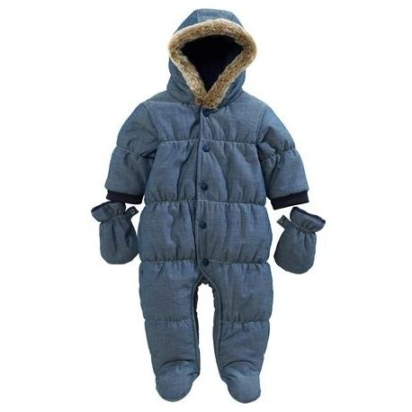 Next - Salopeta iarna bebelusi Light Denim Quilt