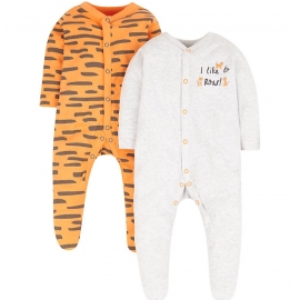 Mothercare - Pijamale body all-in-one, 2 buc, Little Tiger