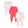 Mothercare - Pijamale body all-in-one Tea Party, 3 buc