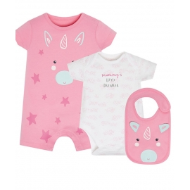 Mothercare - Set cadou 3 piese, Unicorn
